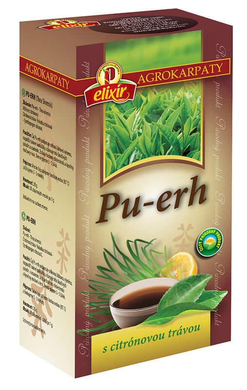 Agrokarpaty Čaj Pu-erh s citrónovou trávou (20 vreciek)