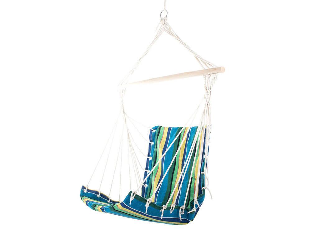 Sieťová hojdačka - kreslo (modro-žlté)