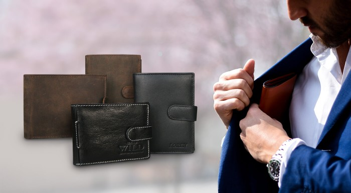 Pánske kožené peňaženky WILD