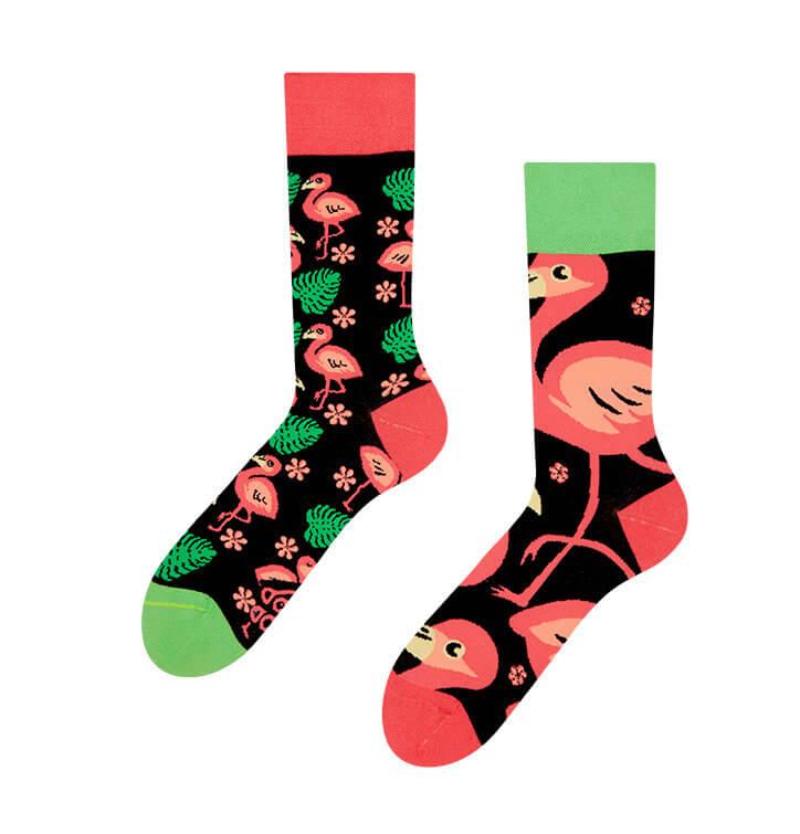Veselé ponožky Plameniaky - veľkosť 35-38