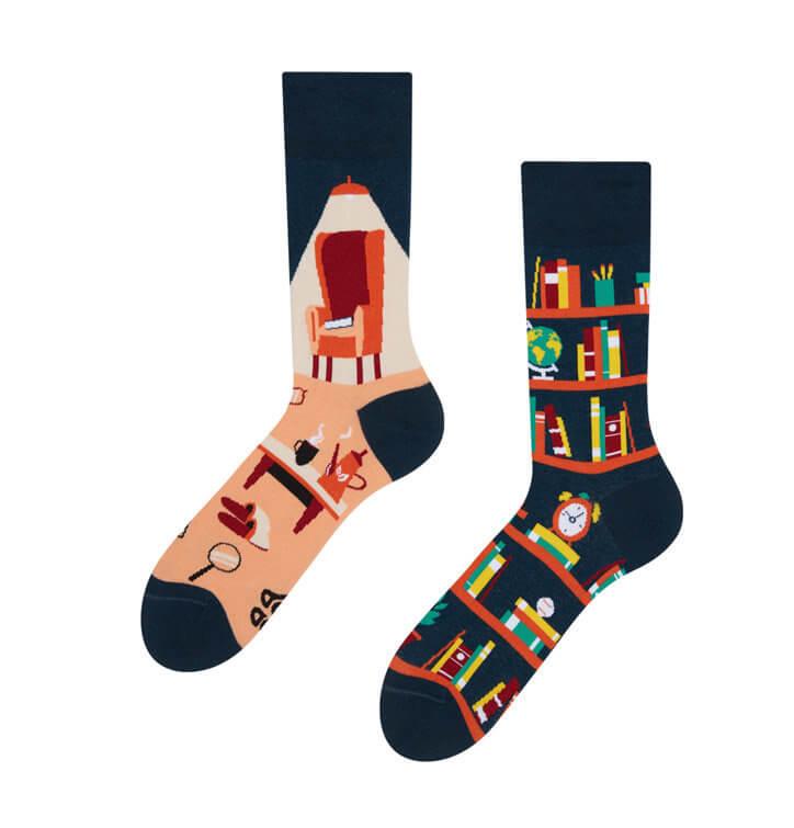 Good Mood ponožky Knižnica - veľkosť 35-38
