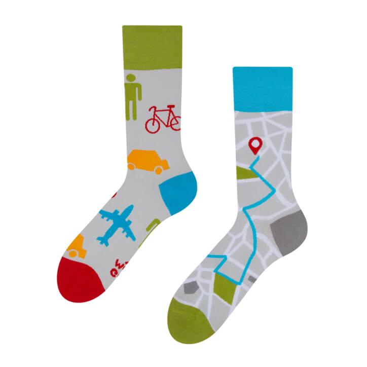 Good Mood ponožky Mapy - veľkosť 35-38