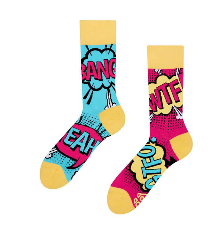Good Mood ponožky Komiks - veľkosť 39-42