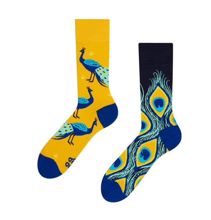 Good Mood ponožky Páv - veľkosť 35-38