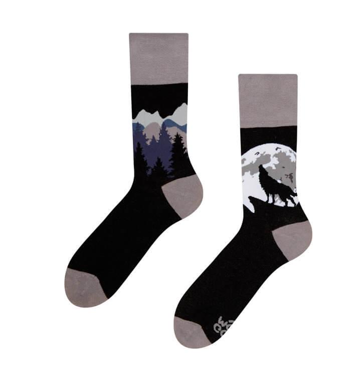 Good Mood ponožky Vlk - veľkosť 35-38