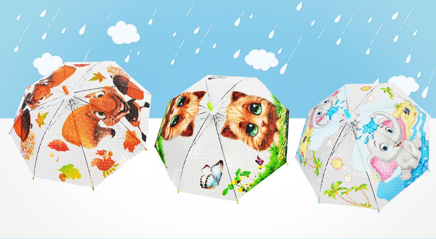 Rozkošné dáždniky pre deti s motívom zvieratiek - v ponuke aj zaujímavé 3D dizajny s píšťalkou!