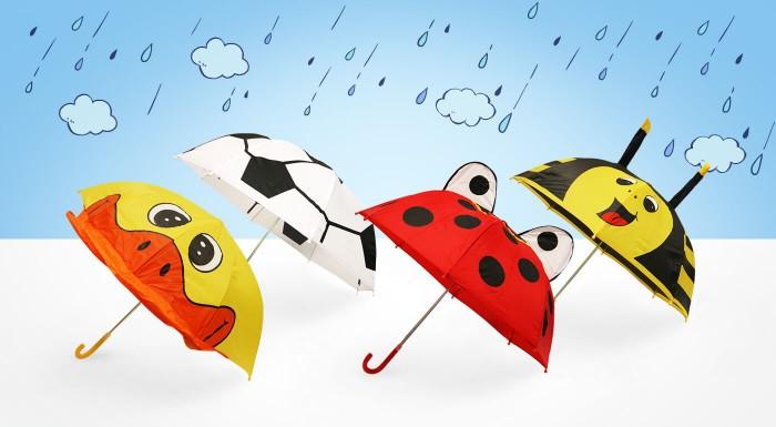 Roztomilé a hravé - také sú dáždniky pre deti v našej ponuke. Vyberte si motív so zvieratkom alebo s futbalovou loptou a potešte svoje ratolesti, keď je vonku škaredo!