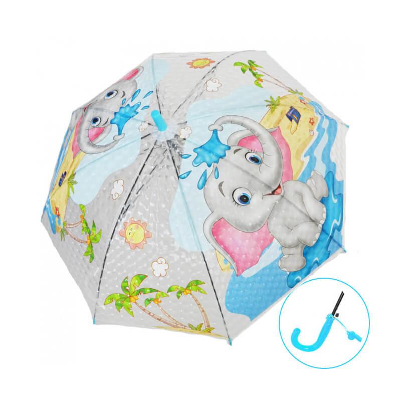 Detský dáždnik s píšťalkou - Sloník