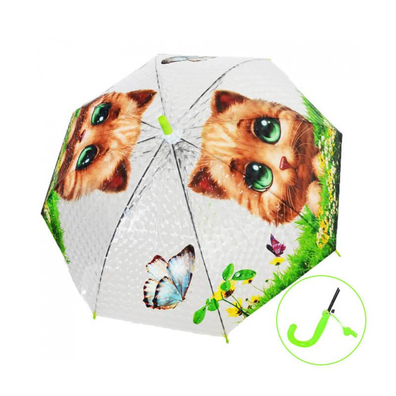 Detský dáždnik s píšťalkou - Mačka zelenooká