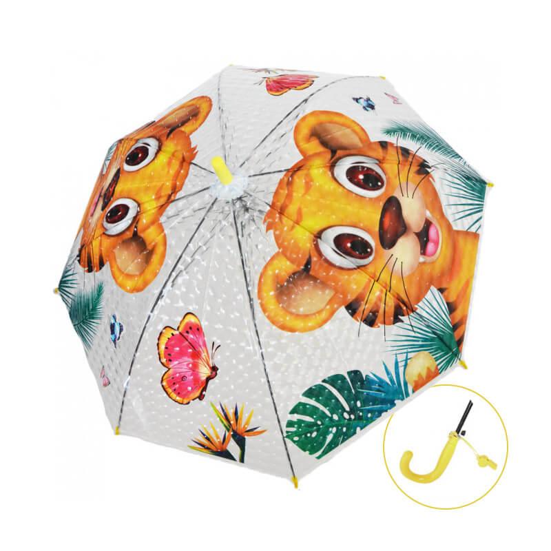 Detský dáždnik s píšťalkou - Tigrík