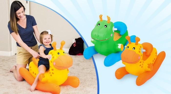 Postarajte sa o to, aby sa vaše dieťatko hýbalo zdravo a s radosťou! Nafukovací koník - hojdačka má veselé prevedenie a pohodlne sa na ňom sedí. Vďaka držadlám je hojdanie maximálne bezpečné.