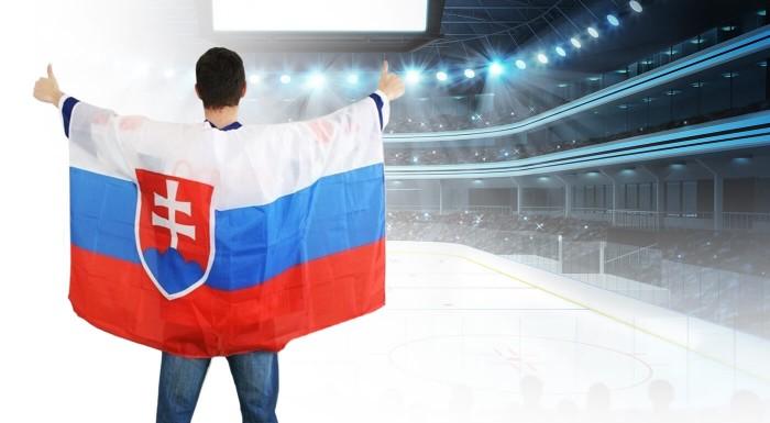 Slovenská vlajka - plášť pre fanúšikov hokeja