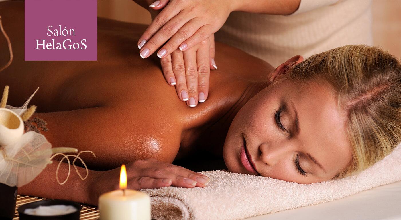Relaxačno-liečebná masáž alebo masáž chrbta v kombinácii s infrasaunou v salóne HelaGoS s masérkou Helenou v centre Bratislavy