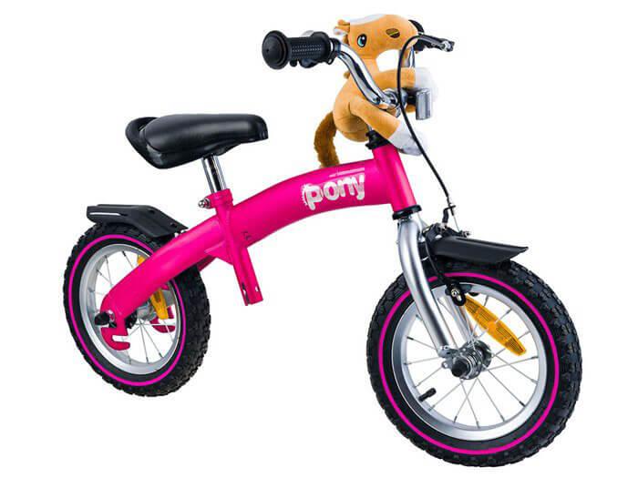 RoyalBaby PONY Detské odrážadlo a bicykel 6v1 ružové