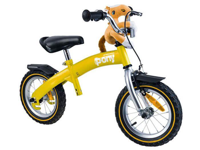 RoyalBaby PONY Detské odrážadlo a bicykel 6v1 žlté