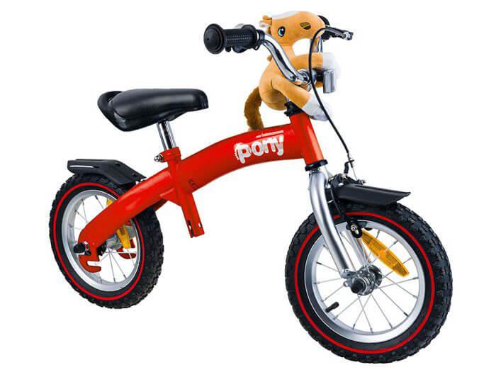 RoyalBaby PONY Detské odrážadlo a bicykel 6v1 červené