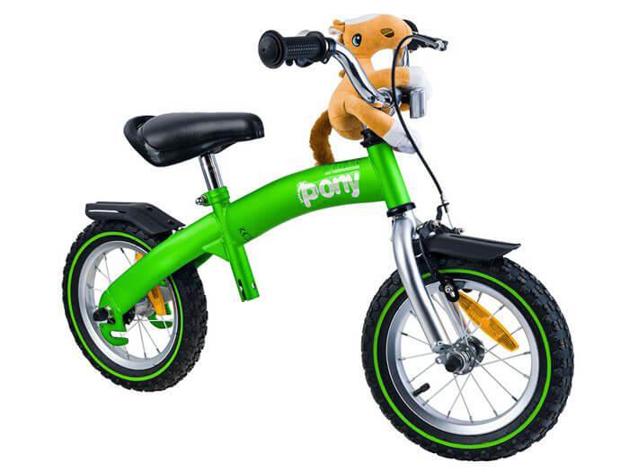 RoyalBaby PONY Detské odrážadlo a bicykel 6v1 zelené