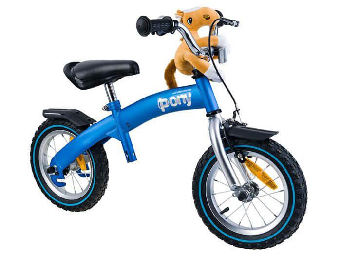 RoyalBaby PONY Detské odrážadlo a bicykel 6v1 modré