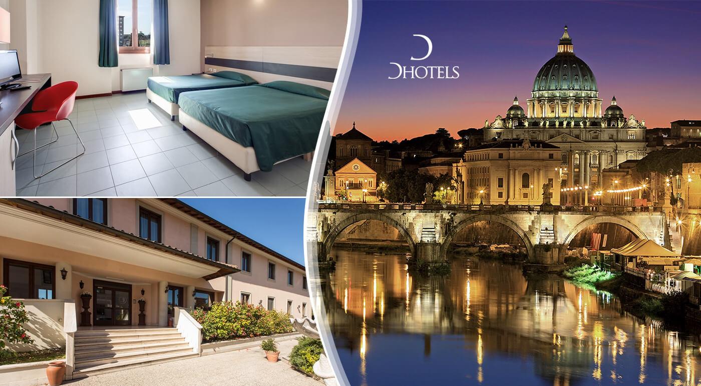 Rím: Oddychový 3-dňový pobyt v Alba Hoteli Torre Maura**** s kontinentálnymi raňajkami