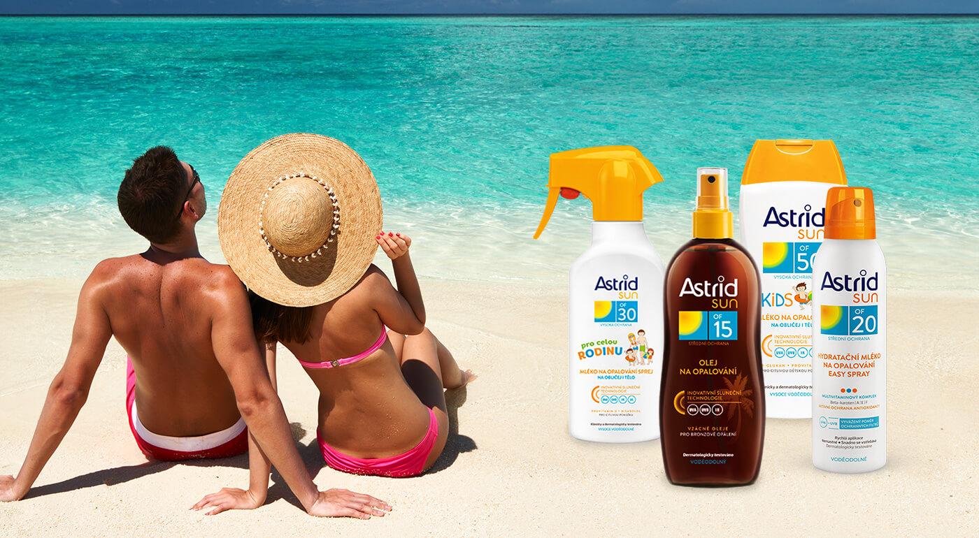 Opaľovacie mlieka a oleje Astrid - slnečná ochrana pre celú rodinu