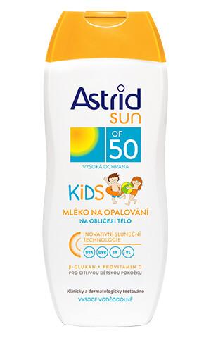 Astrid Sun Kids mlieko na opaľovanie pre deti SPF50 200 ml