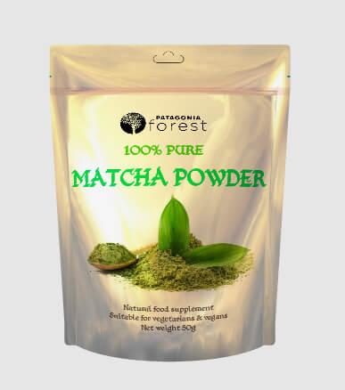 Patagonia Forest: 100% čistý Matcha zelený čaj v prášku (50 g)
