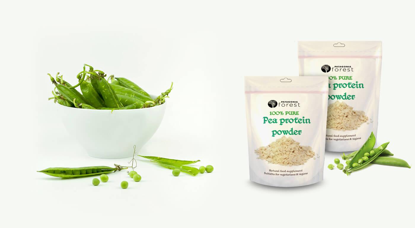 100% čistý hrachový proteín ako bohatý zdroj esenciálnych aminokyselín, železa a zinku - aj pre vegánov a vegetariánov!