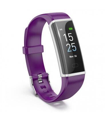 Inteligentný fitness náramok fialový