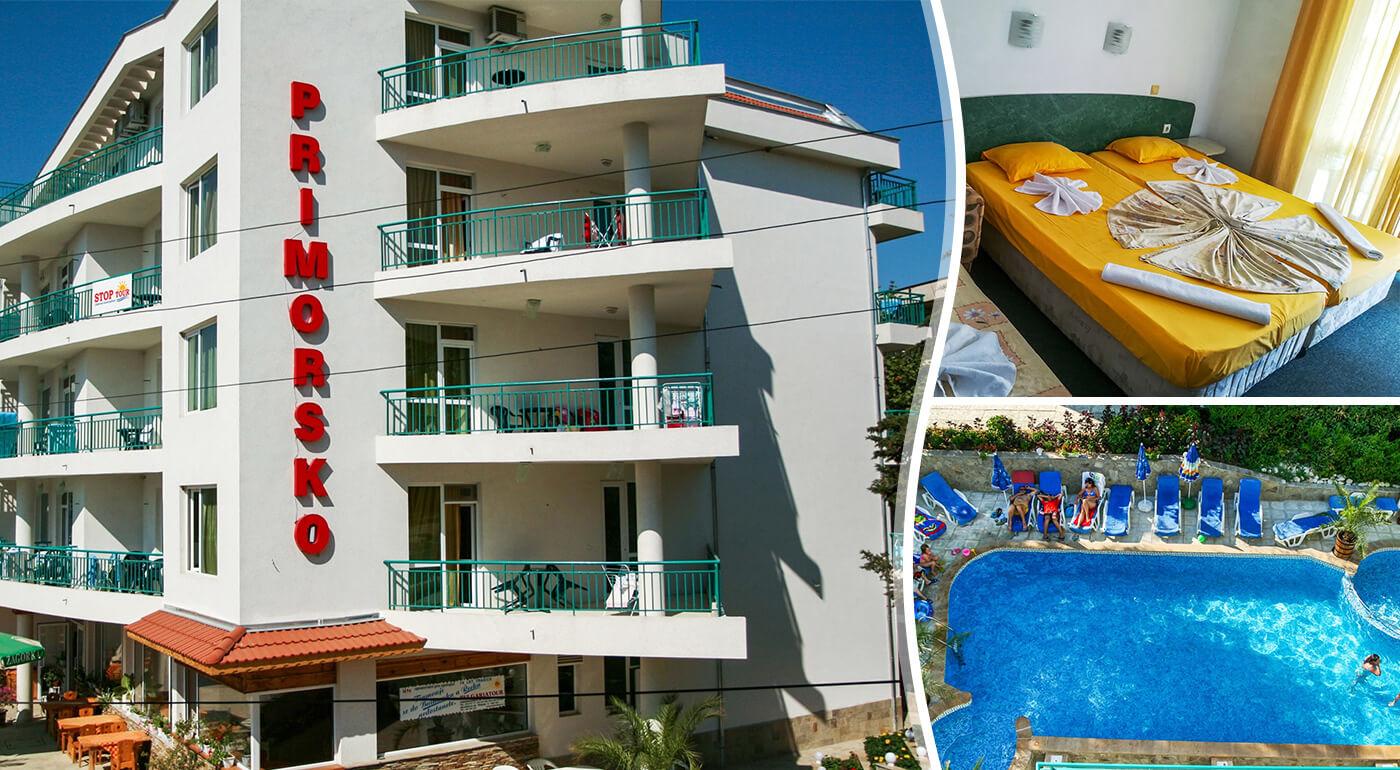 Primorsko, Bulharsko: Letný oddych v Hoteli Primorsko*** s raňajkami blízko pláže - letecky alebo vlastnou dopravou