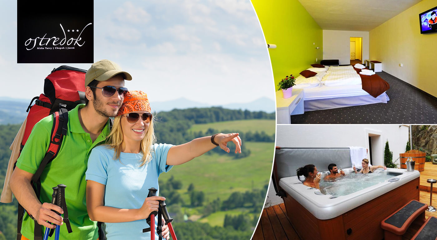 Nízke Tatry: Leto v Hoteli Ostredok s polpenziou a špičkovým wellness