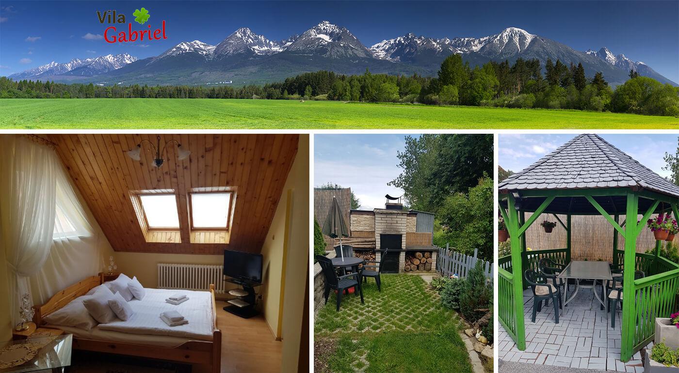 Vysoké Tatry: pobyt pre dvojicu vo Vile Gabriel s parádnym relaxom v saune a na masáži