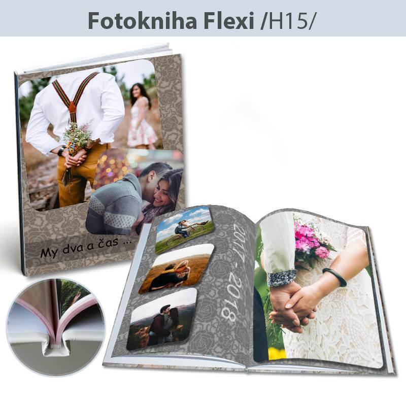 Fotokniha formát Flexi A4 na výšku - H15, 24 strán, tvrdá knižná väzba