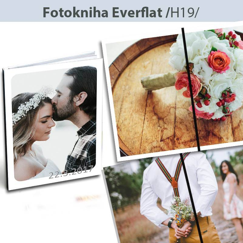 Fotokniha Everflat formát A4 - H19, 24 strán, tvrdá knižná väzba