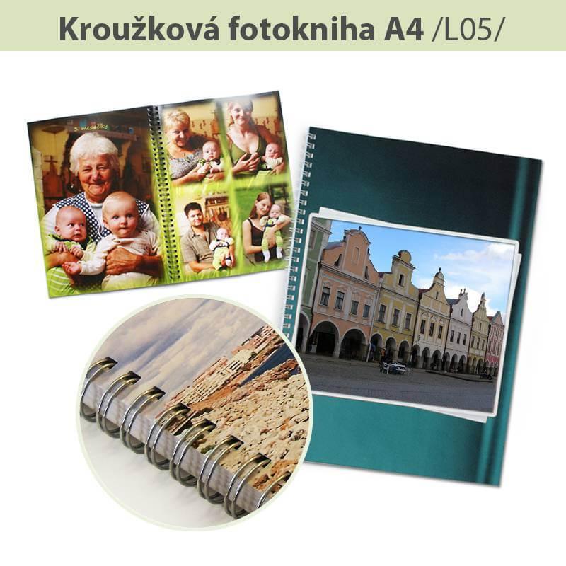 MCL Brno: Fotokniha s krúžkovou väzbou  A4 - L05 (12 strán)
