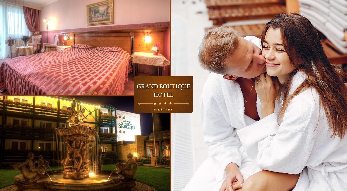 Letná romantika v Grand Boutique Hoteli Sergijo**** Piešťany s neobmedzeným wellness