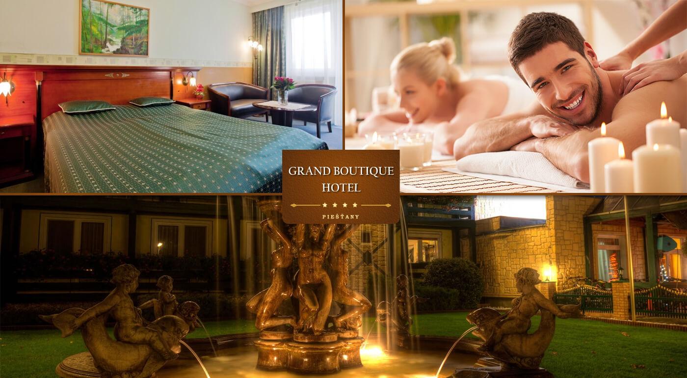 Letný wellness pobyt v Grand Boutique Hoteli Sergijo**** Piešťany s polpenziou a masážami