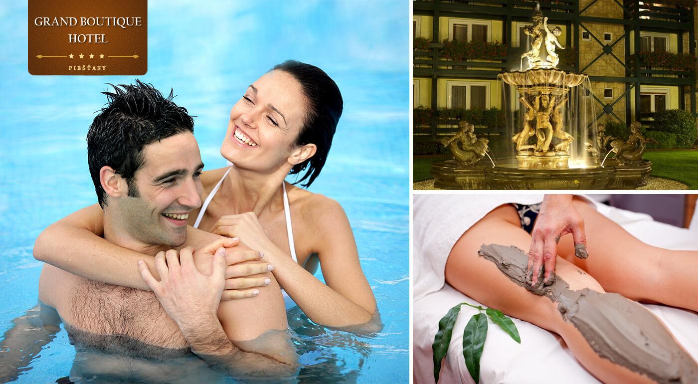 Letný kúpeľný oddych v Grand Boutique Hoteli Sergijo**** Piešťany s polpenziou a luxusnými wellness procedúrami