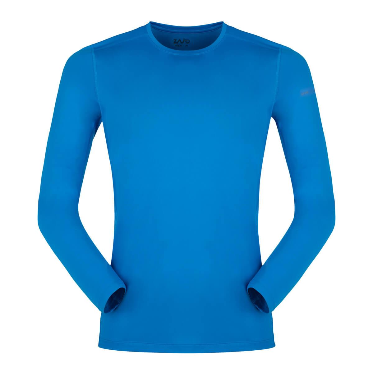 ZAJO Litio T-shirt LS Ibiza Blue pánske tričko - veľkosť S