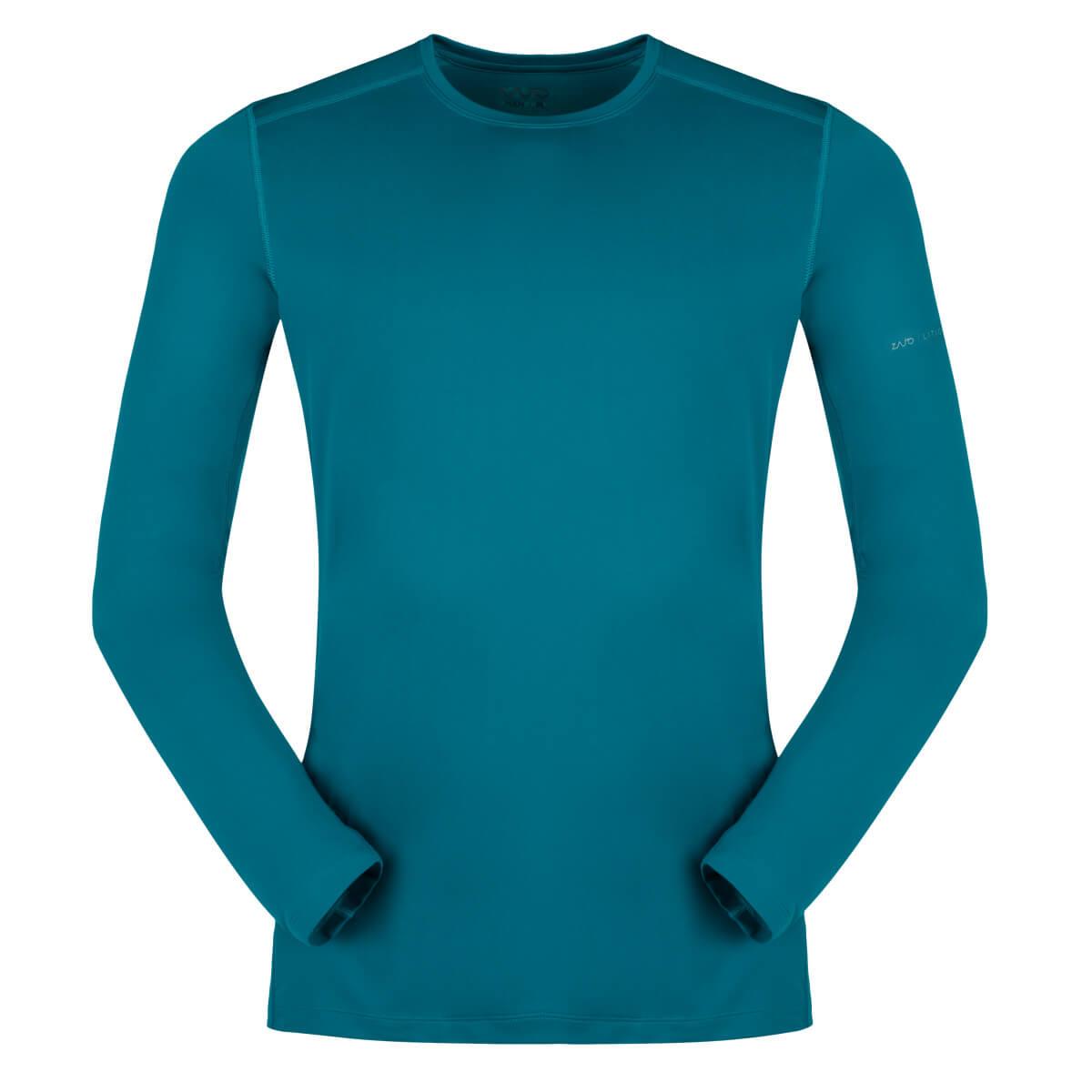 ZAJO Litio T-shirt LS Deep Lagoon pánske tričko - veľkosť S