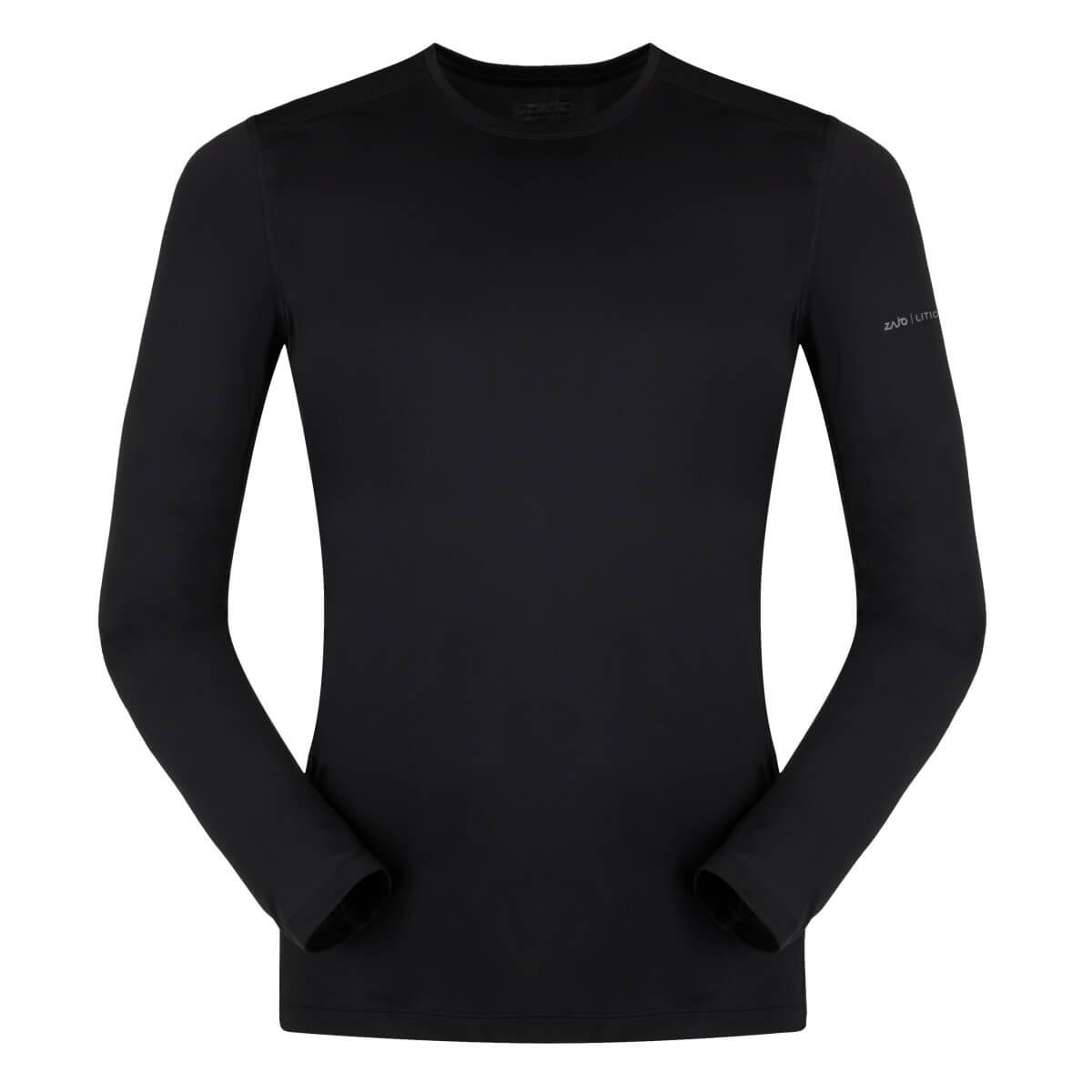 ZAJO Litio T-shirt LS Black pánske tričko - veľkosť S