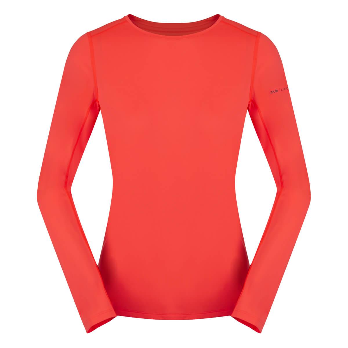 ZAJO Litio T-shirt LS Fluo Coral dámske tričko - veľkosť XS