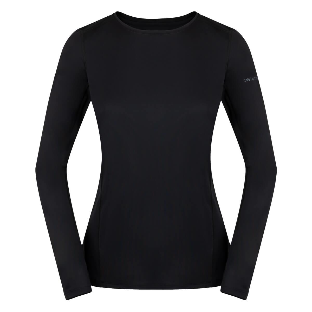 ZAJO Litio T-shirt LS  Black dámske tričko - veľkosť XS