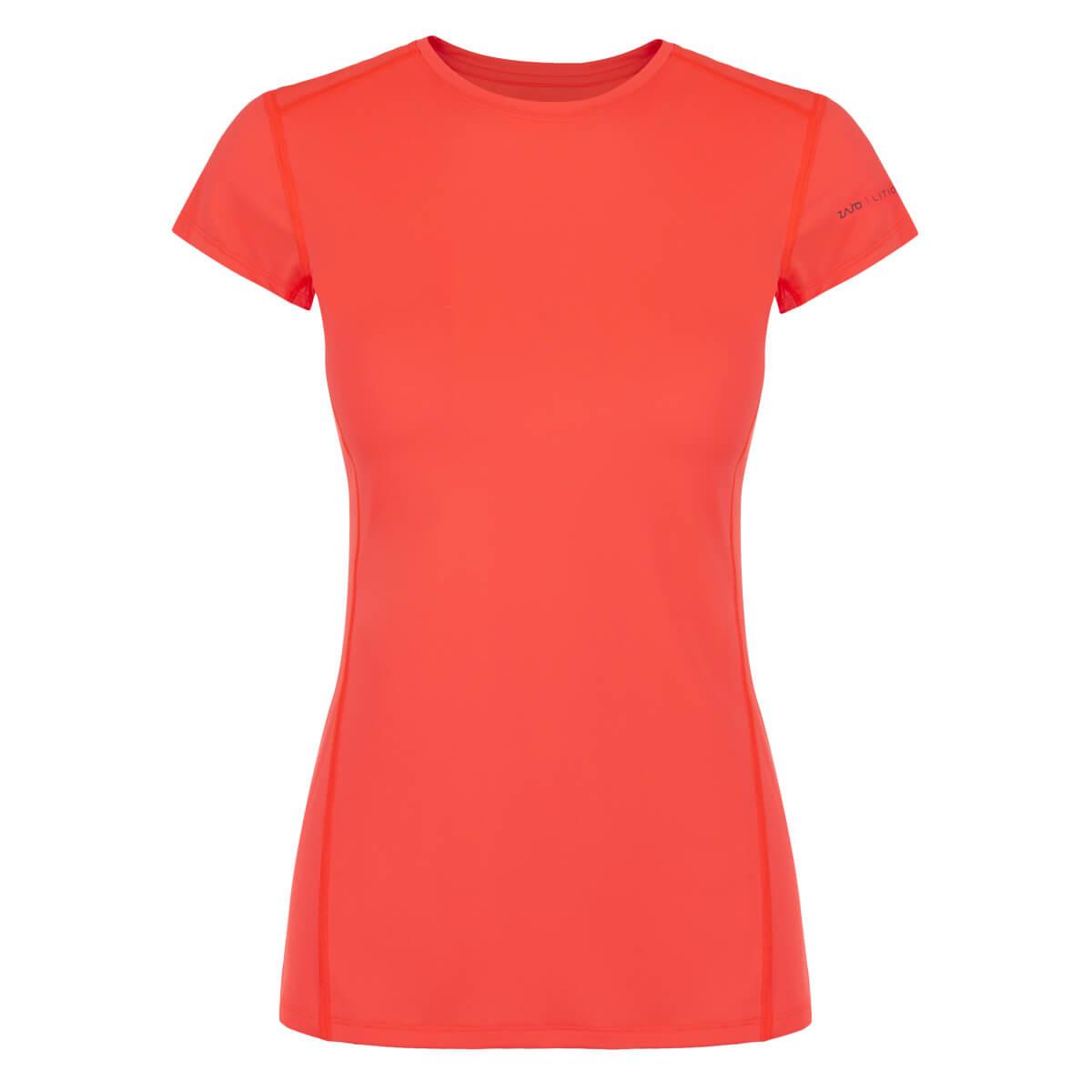 ZAJO Litio W T-shirt SS Fluo Coral dámske tričko - veľkosť XS