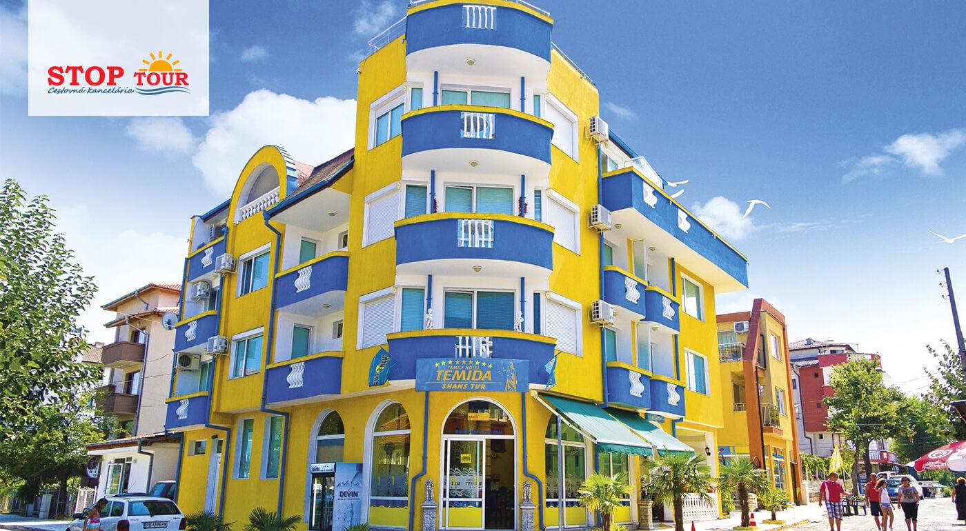 Bulharsko: Dovolenka v Hoteli Temida*** Primorsko leteckou, autobusovou alebo vlastnou dopravou