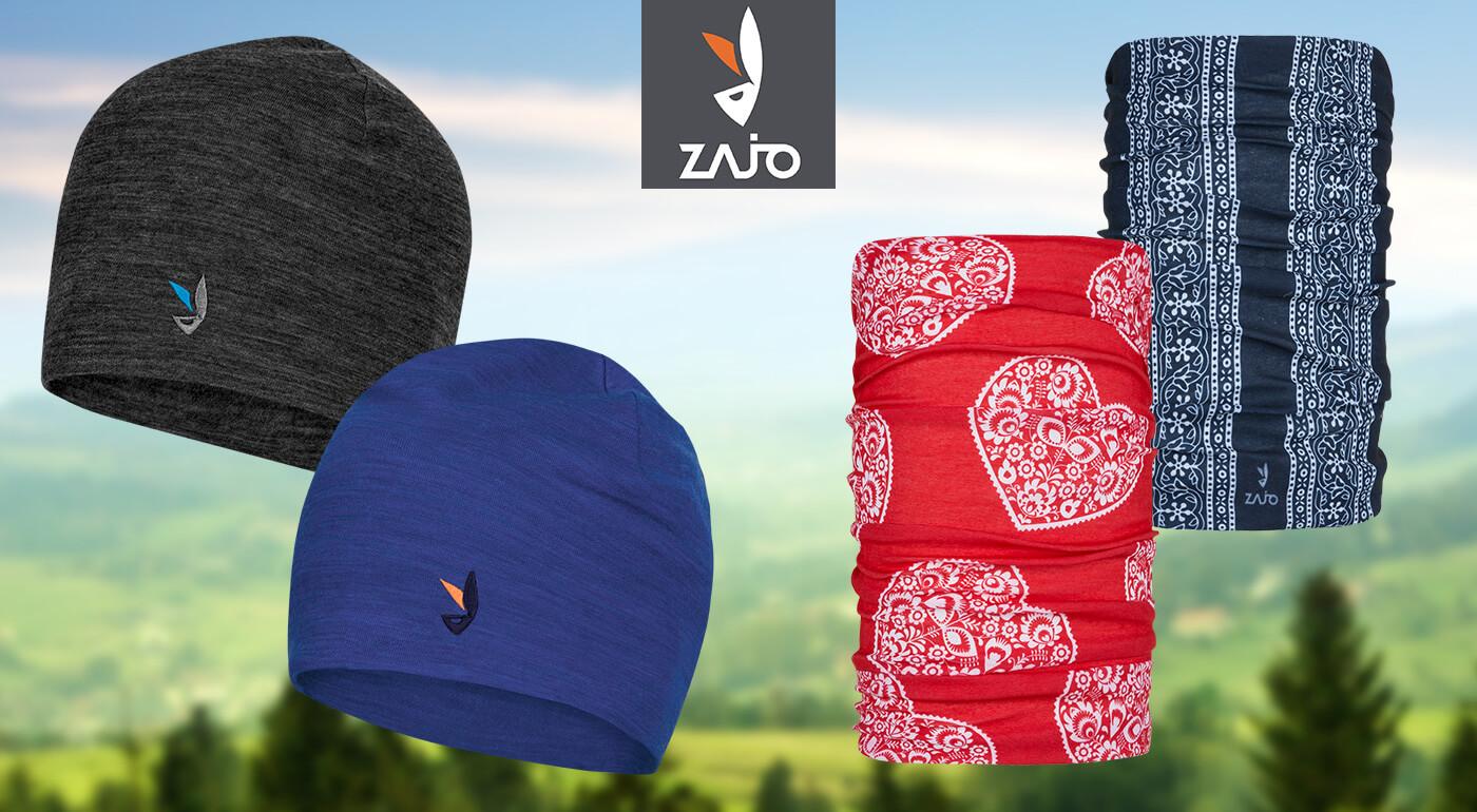 Čiapky, multifunkčné šatky a rukavice pre turistov od slovenskej značky ZAJO