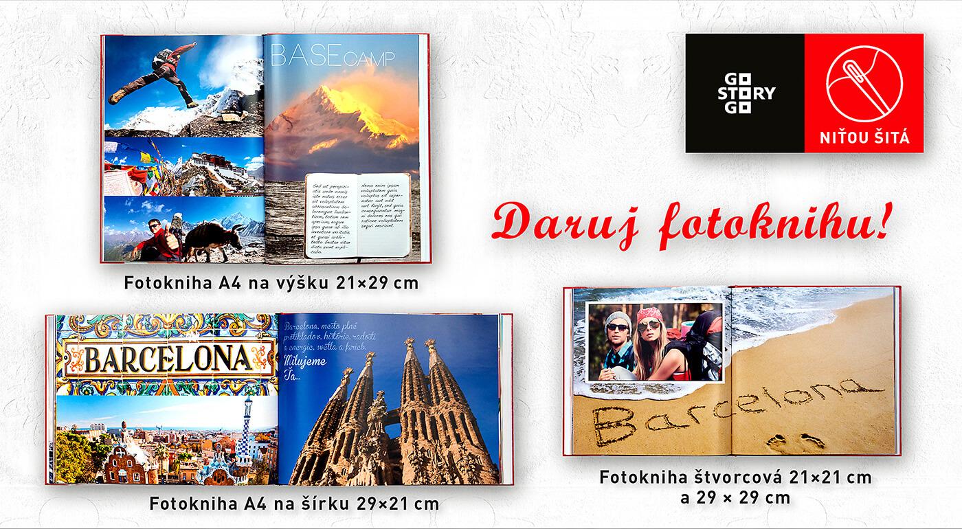 Štvorcová fotokniha veľká (29 x 29 cm) A49_PhotoSewnBook - 120 strán