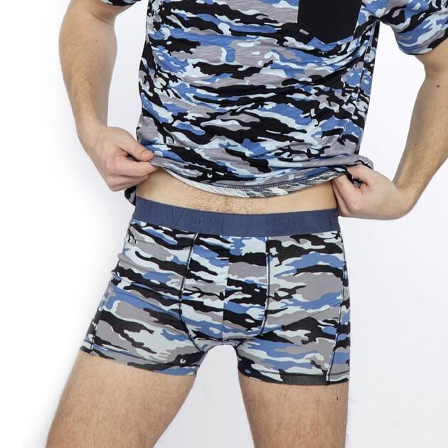 Pánske boxerky NADAL - modré so vzorom, veľkosť S
