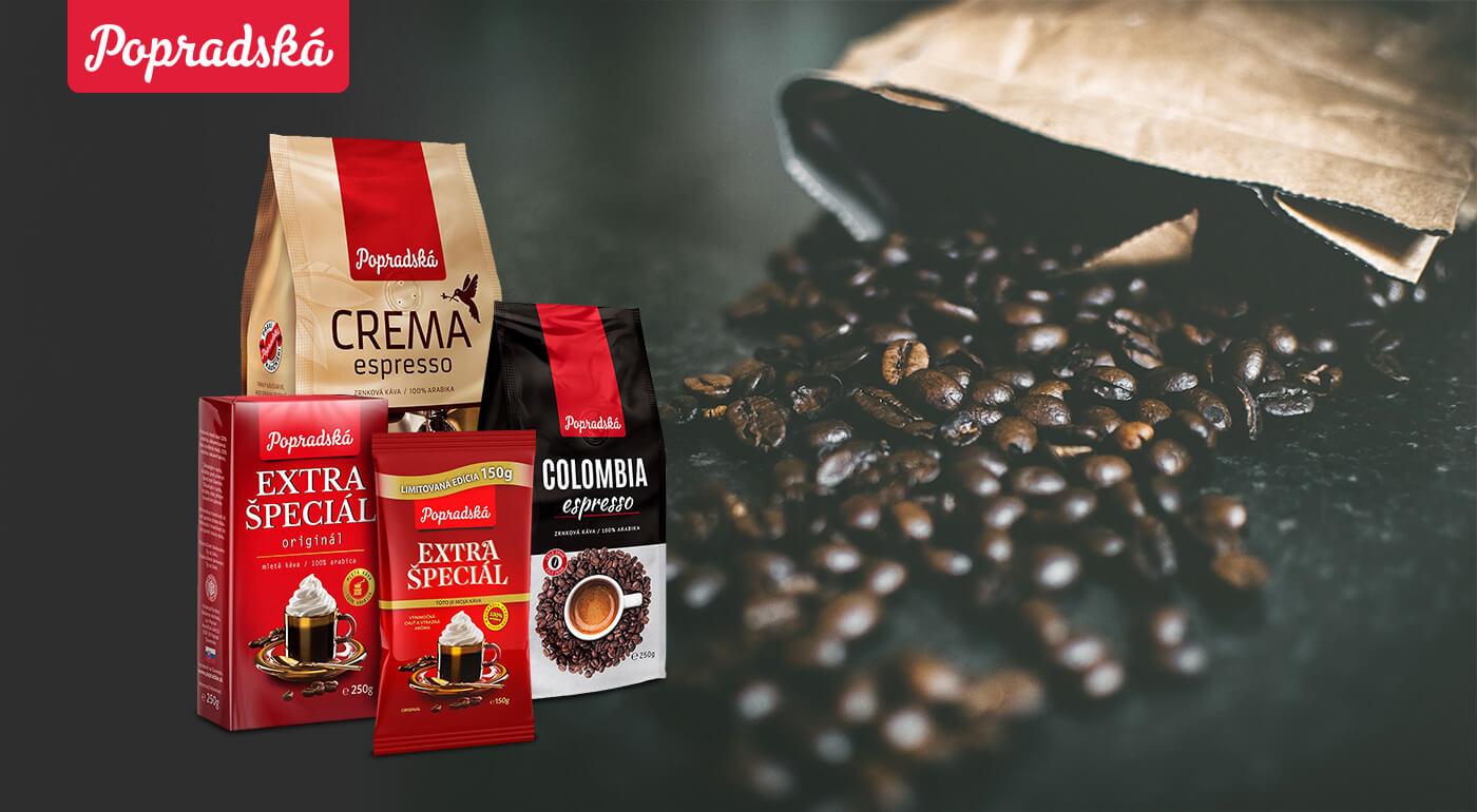 Popradská káva pre pravých kávičkárov - mletá a zrnková 100% arabica overenej kvality