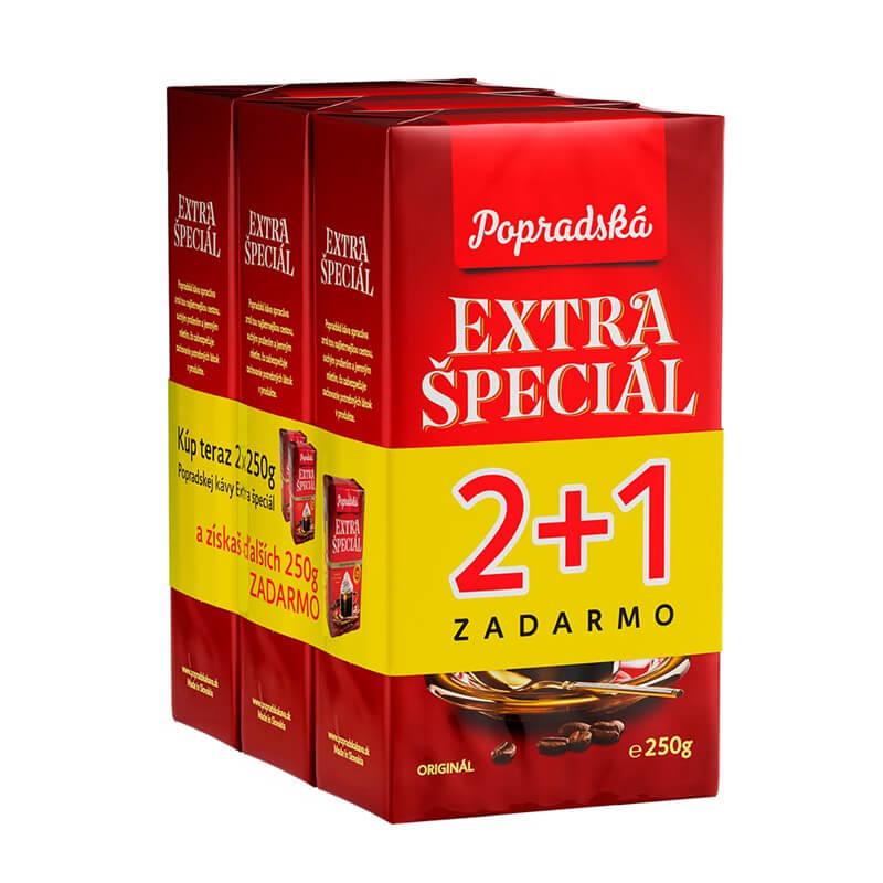 Popradská káva Extra Špeciál mletá 250 g 2+1 ZDARMA