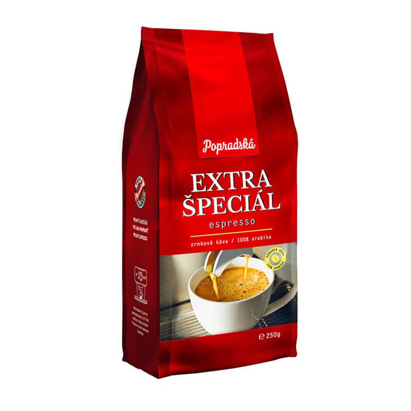 Popradská káva Extra Špeciál espresso zrnková 250 g